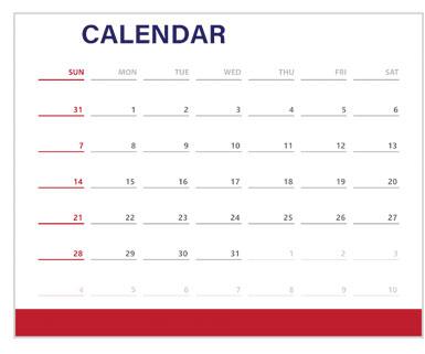Union County Calendar